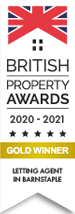 British Property Awards 2017 Gold Winner estate Agent Barnstaple