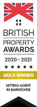 British Property Awards 2017 Gold Winner estate Agent Barnstaple